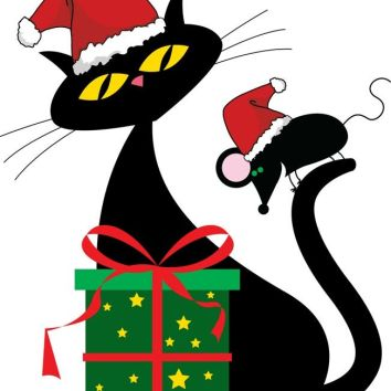cute-santa-cat-and-christmas-mouse-christmas-cats-pinterest-8Oe62h-clipart